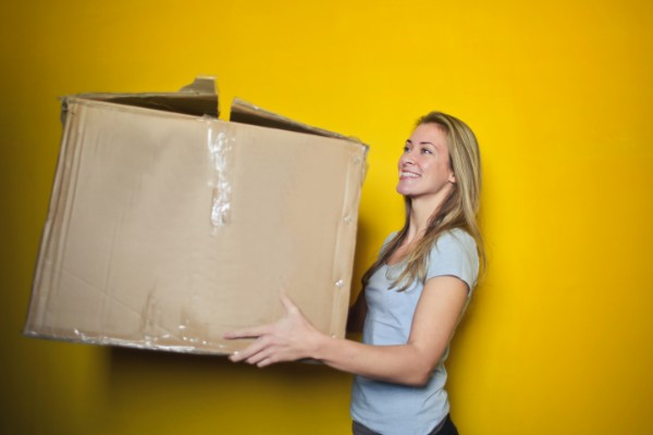 Get involved - Woman and box